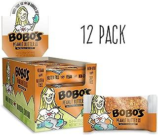 Bobo's Oat Bars, Peanut Butter, 3 oz Bar (12 Pack), Gluten Free Whole Grain Snack and Breakfast Bar