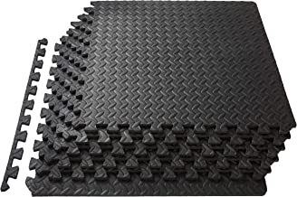 ProsourceFit Puzzle Exercise Mat, EVA Foam Interlocking Tiles, Protective Flooring for Gym Equipment and Cushion for Workouts