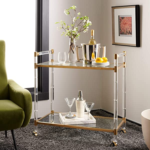 Safavieh Couture Collection Duval Bronze Acrylic Bar Trolley