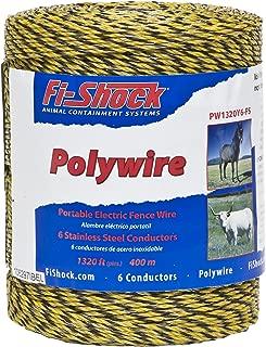 Fi-Shock PW1320Y6-FS 6-Strand Polywire, 1320-Feet