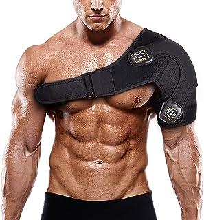بند شانه PainFX برای مردان با پشتیبان روتاتور کاف و آستین فشرده سازی قابل تنظیم - سبک و قابل تنفس ، از جابجایی و بازیابی سریع از اسپری های AC ، بورسیت و اشک جلوگیری می کند