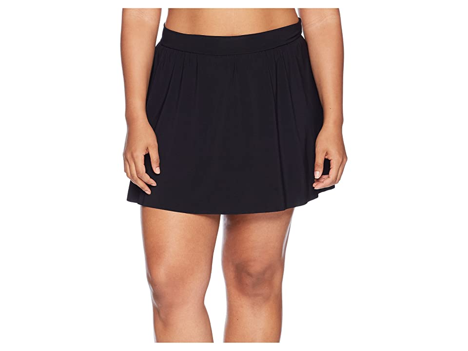 Magicsuit Plus Size Jersey Tennis Skirt Bottom (Black) Women