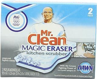 Mr Clean Magic Eraser Kitchen Scrubber, 2-Count (Pack of 3)
