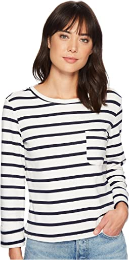 Bishop + Young Stripe Back Lace-Up Top