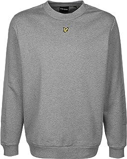 Lyle & Scott Fabric Mix Crew Neck Mens Sweatshirt