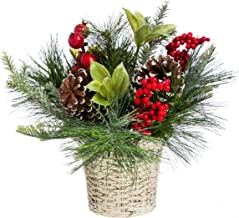 Cypress Home Holly and Pinecone Tabletop Floral Decor 10
