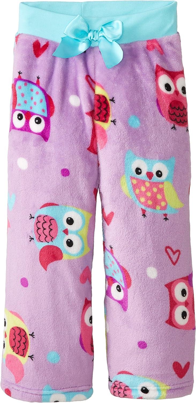 Komar Kids Big Girls' Owl Fleece Sleep Pant
