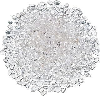 FORBY Rock Quartz Tumbled Chips Stone Crushed Crystal Quartz Irregular Shaped Stones for Home Decorative Stones Vases Plants Succulents Cactus 1pound(About 460 Gram)