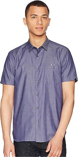 Ted Baker - Eligant Short Sleeve Denim Woven Shirt