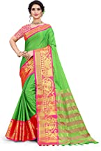The Fashion Outlets New Cotton Silk Gadwal Saree With Banarasi Blouse