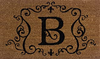 Evergreen 2RM002 Monogram Door Mat, Coir Insert, Letter B, 16-Inches x 28-Inches (Discontinued by Manufacturer)