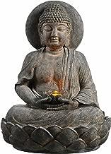 Peaktop 201607PT Outdoor Buddha Zen Fountain W/LED Light, 28
