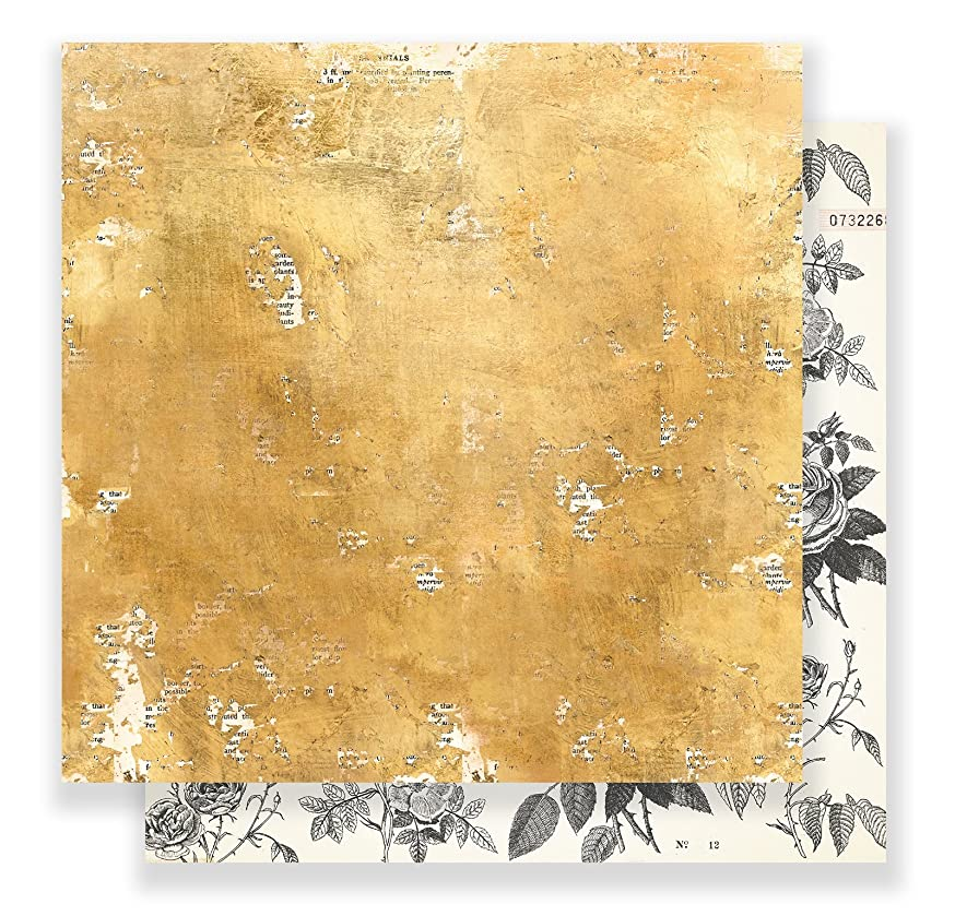 Maggie Holmes Flourish Patterned 12 x 12 Paper Goldenrod (25 Pack), Piece