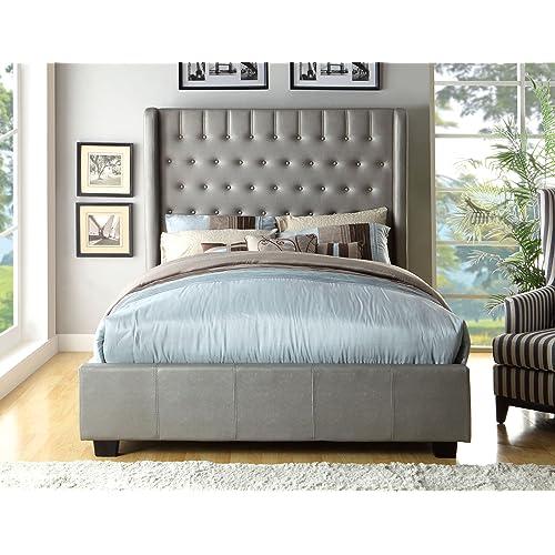 High Headboard Queen Bed Amazon Com