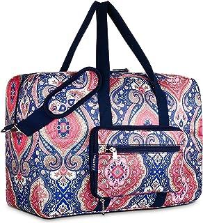 Sponsored Ad - F.FETIVIN Weekender Bag Carry On Bag Travel Duffle Bag Medium Overnight Bag for Women and Girls