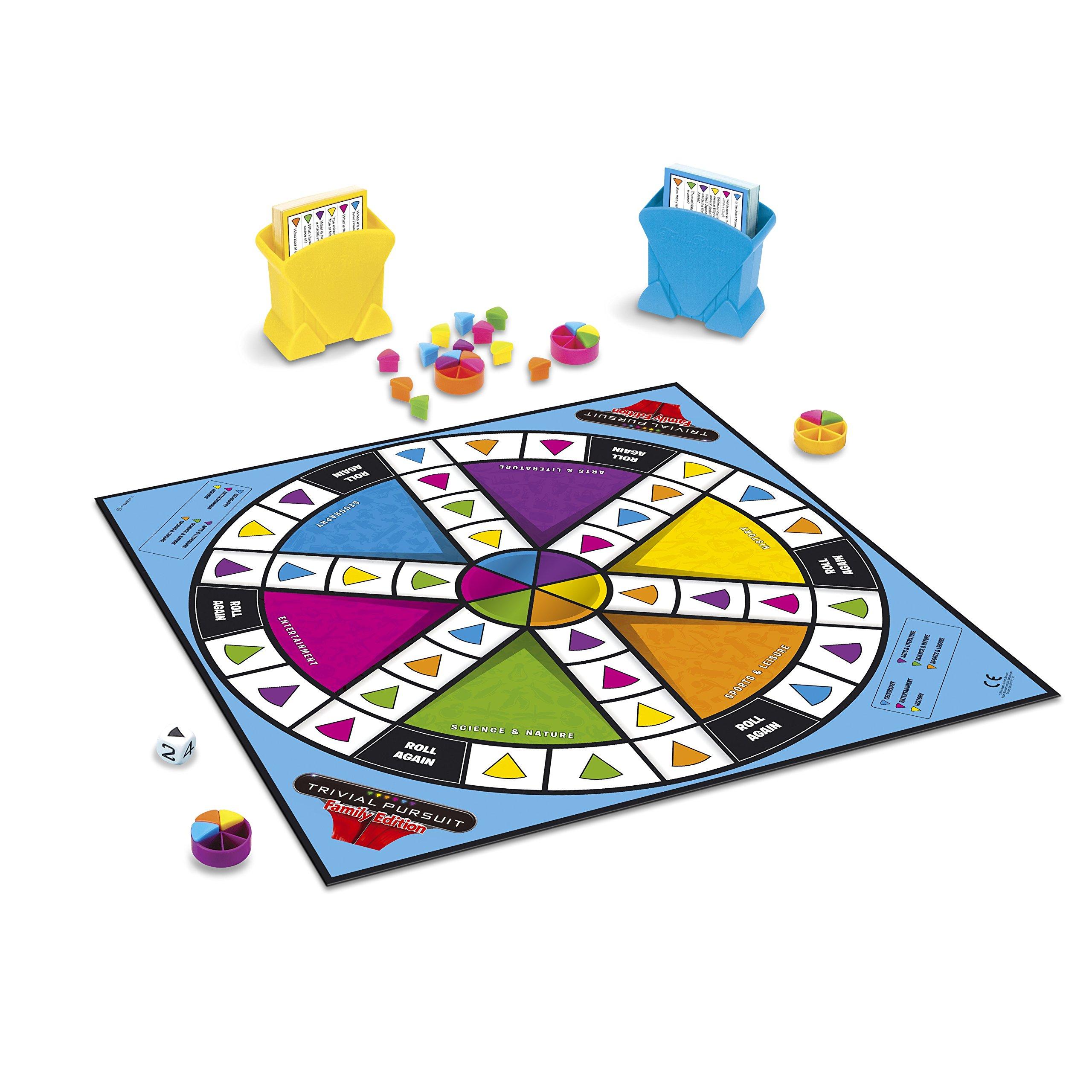 Hasbro Trivial Pursuit Family Edition Juego de Mesa (Idioma español no garantizado): Amazon.es: Juguetes y juegos