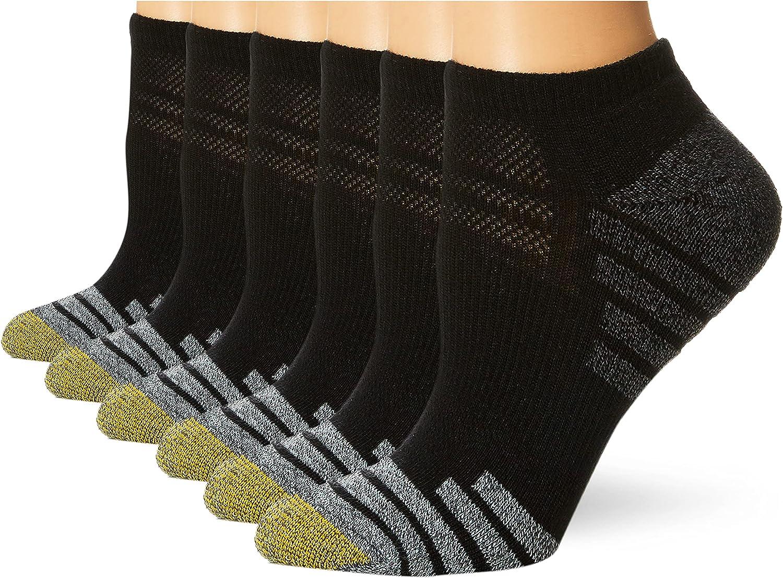 Gold Toe Women's Sport Tech No Show Socks, 6-Pairs