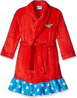 DC Comics Girls' Big Wonder Woman Velvet Fleece Robe