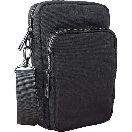 JP Journey Umhängetasche Herren Klein, Schultertasche für Handy und Tablet bis 7 Zoll, Wasserabweisend, 1.7 Liter, Schwarz