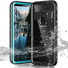Janazan Samsung Galaxy S9+ Plus Waterproof Case, IP68 Full Sealed Underwater Protective Cover, Waterproof Shockproof Snowp...