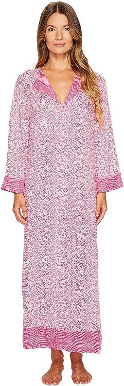 Oscar de la Renta Pink Label - Printed Rayon Challis Caftan