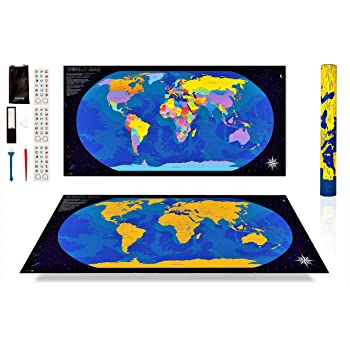 ANFIPO Mapa Para Rascar Scratch Map – Mapa del Mundo de Pared ...