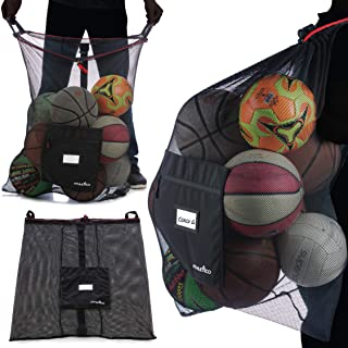 Athletico Extra Large Ball Bag - Mesh Soccer Ball Bag - Heavy Duty Drawstring Bags Hold Equipment for Sports Including Bas...