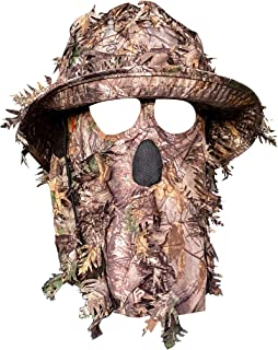 Realtree Xtra Camouflage 3D Leafy Bucket Hat Hunting Face Mask Combination (Sm/Med, 57-58cm)
