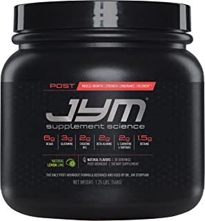 Post JYM Active Matrix - Post-Workout with BCAA's, Glutamine, Creatine HCL, Beta-Alanine, and More | JYM Supplement Science | Natural Lemon Lime Flavor, 30 Servings,1.25 Pound