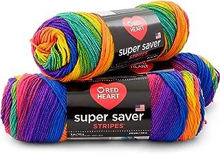 RED HEART E300PK.4965 Super Saver 3-Pack Yarn, Favorite Stripe 3 Pack