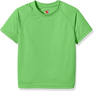 Fruit Of The Loom Childrens Unisex Performance Sportswear T-Shirt (UK Size: 14-15) (Lime)