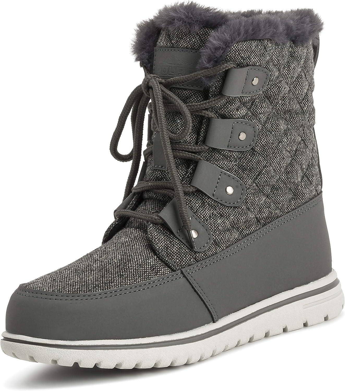 Polar kvinnor Quilted kort Faux Fur Snow VattenBesteändiga vinterskor - - - 7 - GRE38 AYC0524  mode