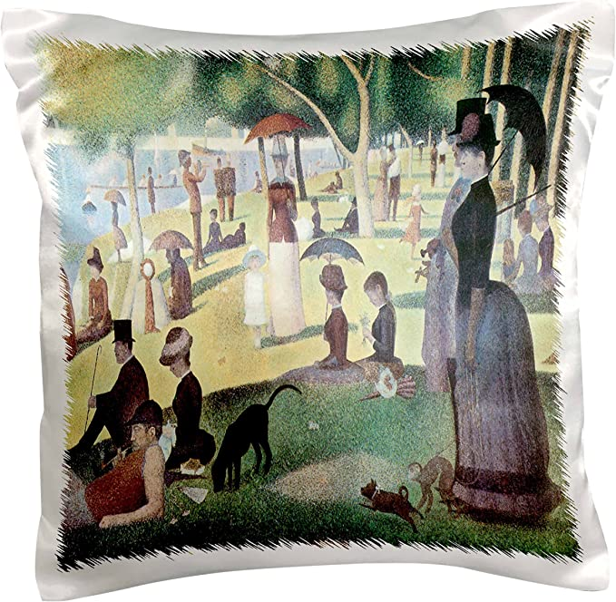 3drose Pc 127363 1 A Sunday Afternoon On The Island Of La Grande Jatte X Georges Pierre Seurat Pillow Case 16 X 16 Arts Crafts Sewing