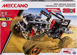 Erector by Meccano, Motorized Off Road Racer, 25 Vehicle Model Building Set, 406 Pieces, For Ages 9 and up, STEM Construction Education Toy For Boys