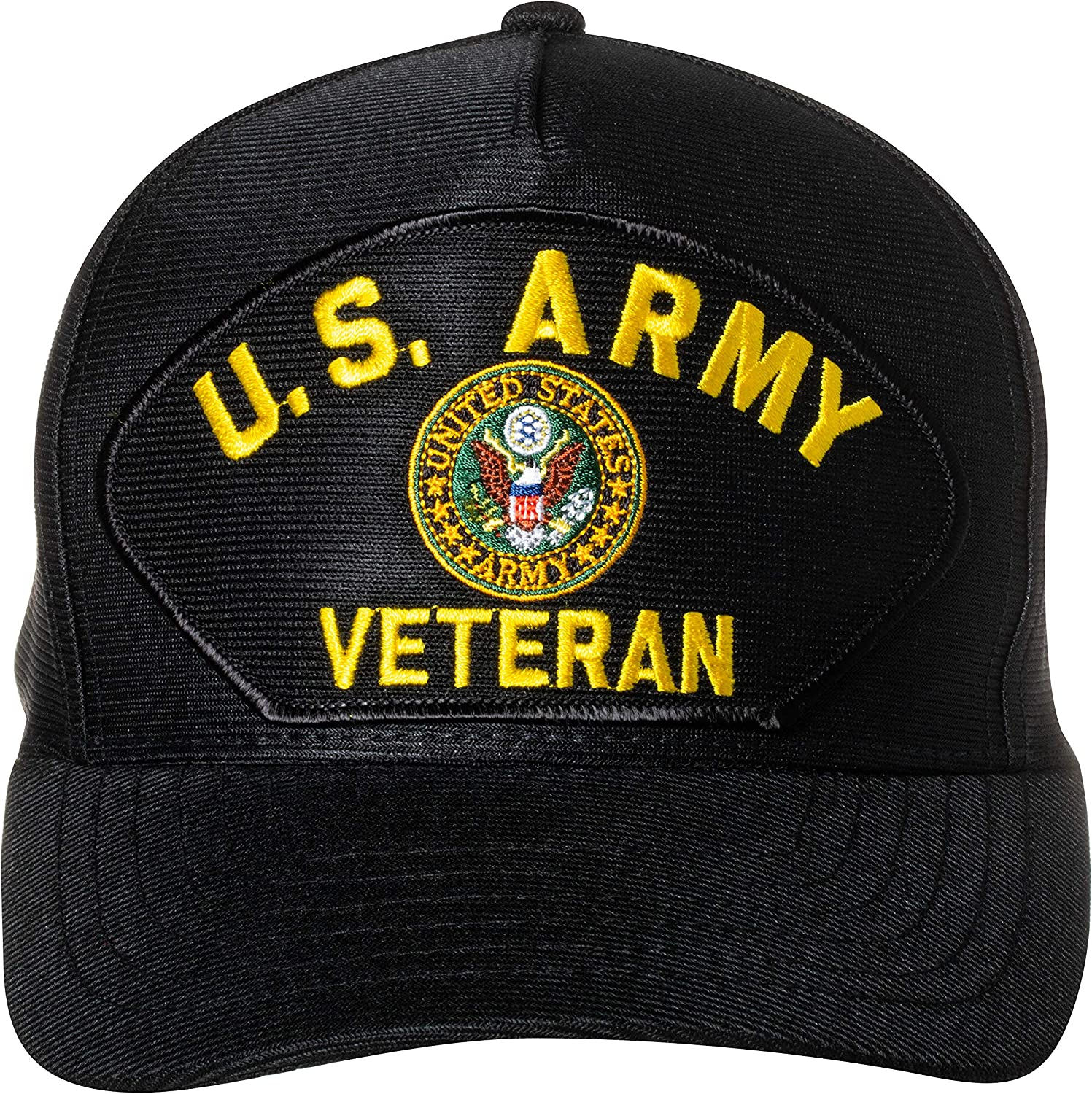 United States Army Retired Emblem Patch Black Baseball Classic Cap Year-end annual account Hat