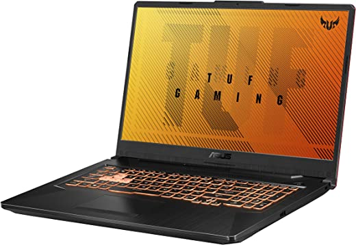 "ASUS TUF Gaming F17 Gaming Laptop, 17.3"" FHD IPS-Type Display, Intel Core i5-10300H, GeForce GTX 1650 Ti, 8GB DDR4, 512GB PCIe SSD, RGB Keyboard, Windows 10, Bonfire Black, FX706LI-RS53"