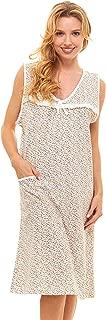 Womens Nightgown Sleeveless Cotton Pajamas - Sleepwear Nightshirt