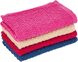 Princes PRNC_WASH_CLTH_4 DEYARCO Terry Wash Cloth 4 Pieces Set, Size 30 x 30 cm Super Soft Quick Dry Highly Absorbent, Cot...
