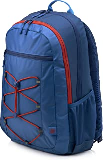 "HP 15.6"" Active Backpack, Marine Blue/Coral Red - 1MR61AA"