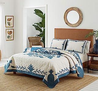 Tommy Bahama Aloha Pineapple Quilt, King, Blue
