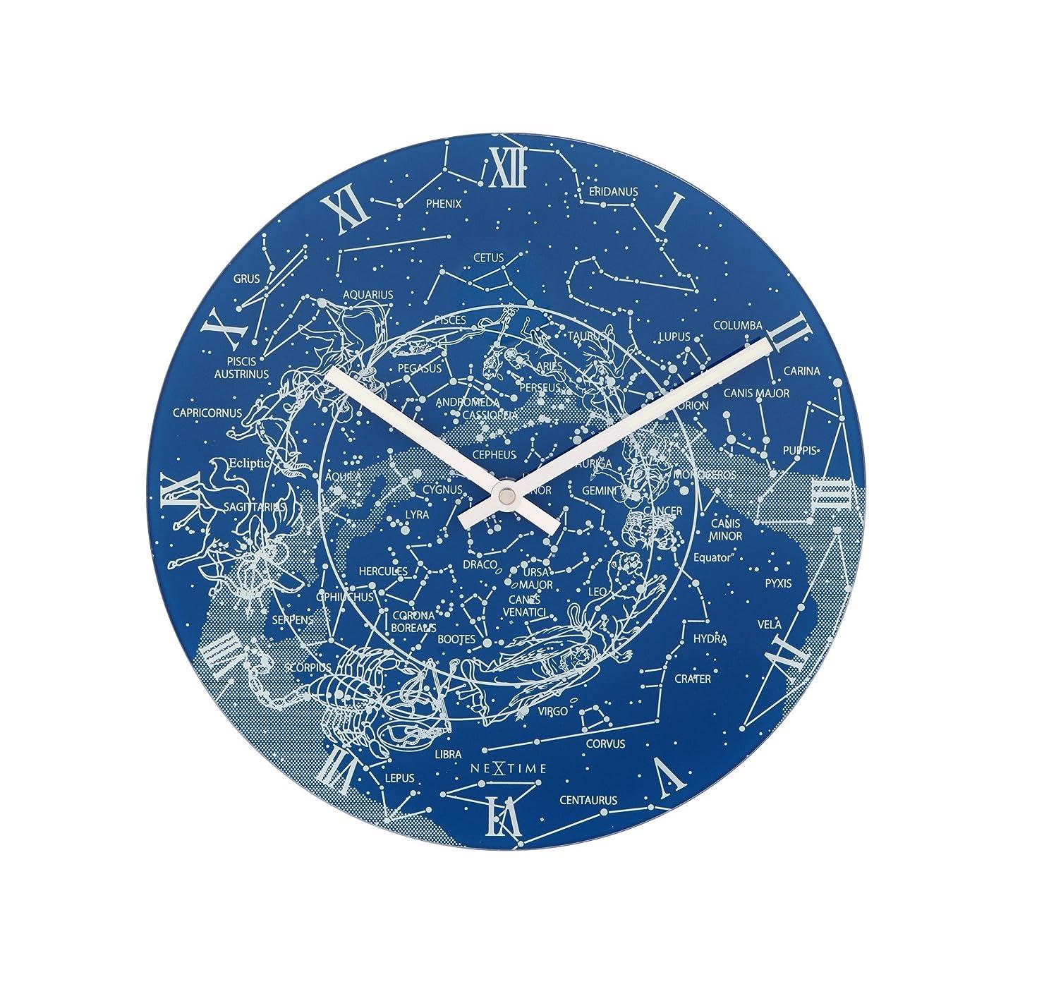 海軍解決する逃すNEXTIME Milky Way アナログ掛け時計 ブルー 8814