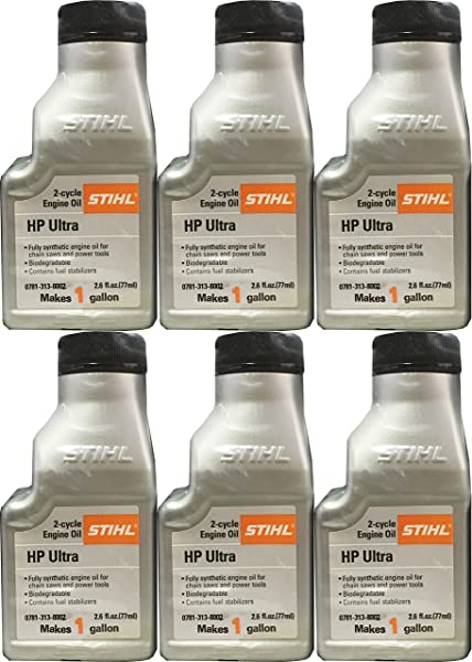 STIHL 0781 313 8002 2 6 Ounce High Performance Ultra 2 Cycle Engine Oil 6 Pack