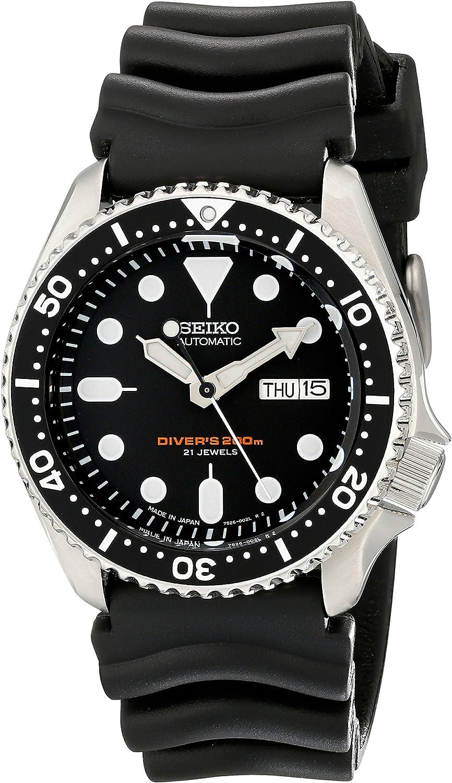 Seiko SKX007J1 Analog Japanese-Automatic Black Rubber Divers Watch