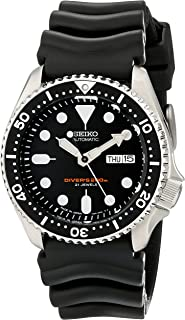Seiko SKX007 J1 Black Face Men's Automatic Analog 200m Divers Watch (Made in Japan)