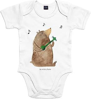 Mr. & Mrs. Panda Mr. & Mrs. Panda Bodysuit, Strampler, Baby Body Bär Gitarre - Farbe Transparent
