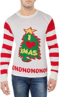 Miracle Mugs Ugly Christmas Sweater - Snow's Out Ho Ho Ho's Out Men's Ugly Christmas Sweater