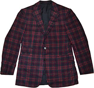 896a42a3bfe3 Ralph Lauren Purple Label Mens Cashmere Sport Coat Blazer Italy Plaid Red  40R