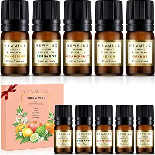New Miuz Citrus Essential Oils, USA Made Gift Set, Undiluted Pure Natural, Therapeutic Grade for Aromatherapy Oil Diffuser...