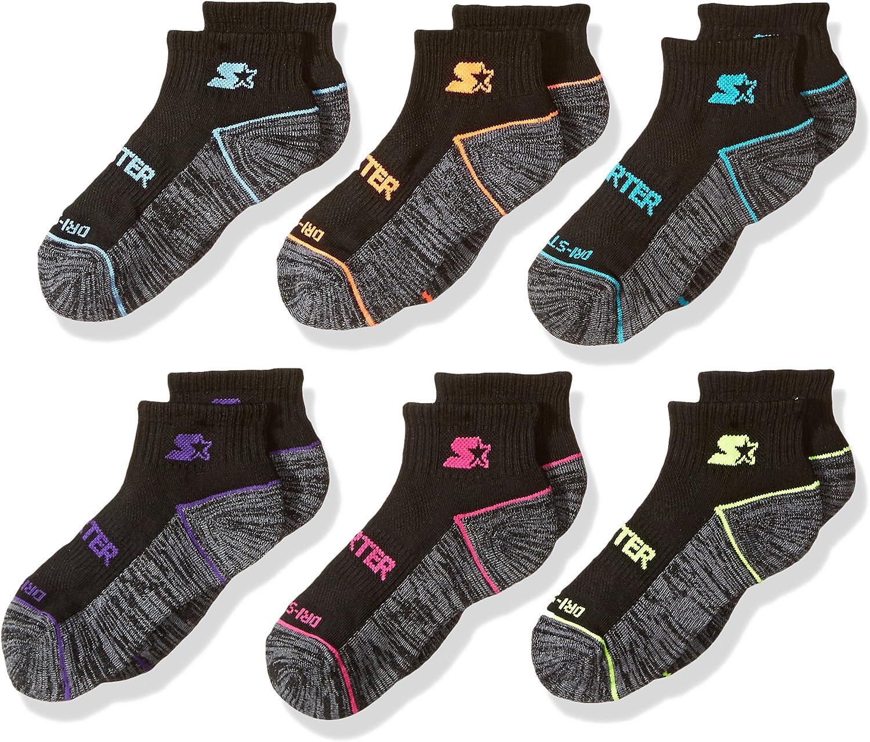 Exclusive Starter Girls 6-Pack Quarter-Length Athletic Socks