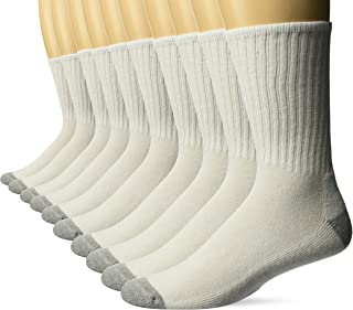 Amazon Essentials Men's 10-Pack Cotton Lightly Cushioned Crew Socks